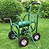 PayLessHere Garden Hose Reel Cart with Wheels Heavy Duty Yard Water Planting Holds 300FT Hose 4-Wheel Watering...