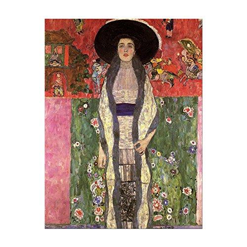Kunstdruck Poster - Gustav Klimt Portrait der Adele Bloch-Bauer 60x80cm ca. A1 - Alte Meister Bild ohne Rahmen
