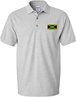 Speedy Pros Jamaica Embroidery Design Adult Unisex Cotton Polo Shirt Golf Shirt