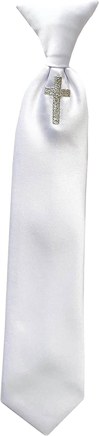 Holiday Bow Ties Boys Communion Reli Max 79% OFF Embroidered Neck Tie Silver New product!!
