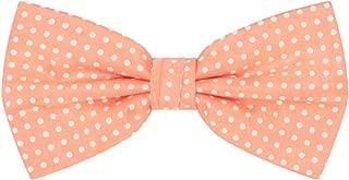 peach polka dot bow tie