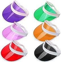 6 piezas de visera de golf de pub de PVC transparente, accesorio para disfraz de golf, sombreros para mujeres, hombres, rojo, verde, morado, negro, rosa y naranja