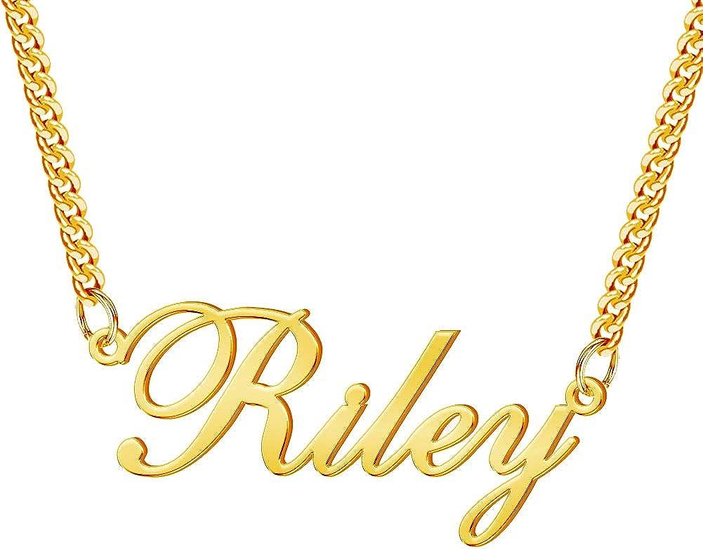 Mesa Mall YokeDuck Custom Name Necklace Personalized Cust 18K Plated Milwaukee Mall Gold