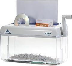 $113 » Aibesy A4 Mini Portable Hand Paper Shredder 3-in-1 Household Manual Shredder Document File CD Credit Card Cutting Machine ...