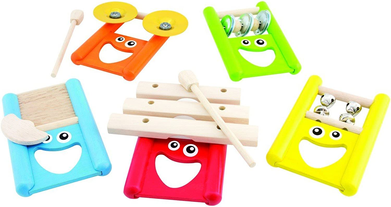 Unbekannt Rythmusgruppe 5-teilig   Musikinstrumente aus Holz und Metall   mit lustigen Gesichtern   Größe  37 x 12 x 26 cm   für Kinder ab 2 B016VXI1Q4 Roman  | Sale Online