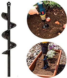 A Privilege Broca de Taladro de Acero para jardinería con Agujero de excavación para Plantar bulbos, Semillas, barrena de Plantas, 1.6