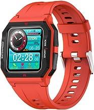UIEMMY slim horloge Smart Watch Heren IP68 Waterdichte Hartslagmeter Fitness Tracker Sport Bluetooth 5.0 Smartwatch voor A...