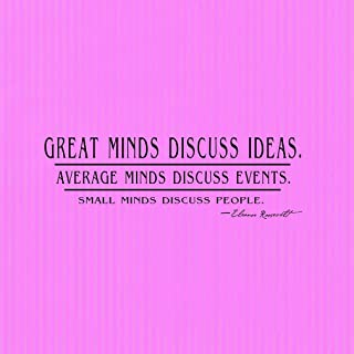 Iliogine Funny Sign Gift Great Minds Discuss Ideas Average Minds Discuss Events Square Pink Stripes Metal Sign Wall Plaque Decoration Caution Sign
