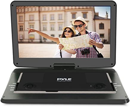Pyle 15-Inch Portable DVD Player, Swivel Angle Adjustable Display Screen, USB/SD Card Memory Readers, and Built-in Rechargeable Battery with Remote Control. (PDV156BK)