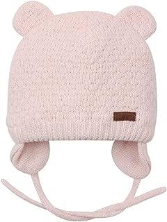 Baby Beanie Hat for Winter with Earfalp Cute Bear Kids Toddler Girls Boys Warm Knit Cap 0-2Years
