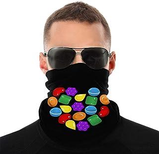 Lsjuee Candy Crush Saga Unisex multifunzionale senza cuciture Bandana per il collo Ghetta per il collo Copricapo per tubo ...