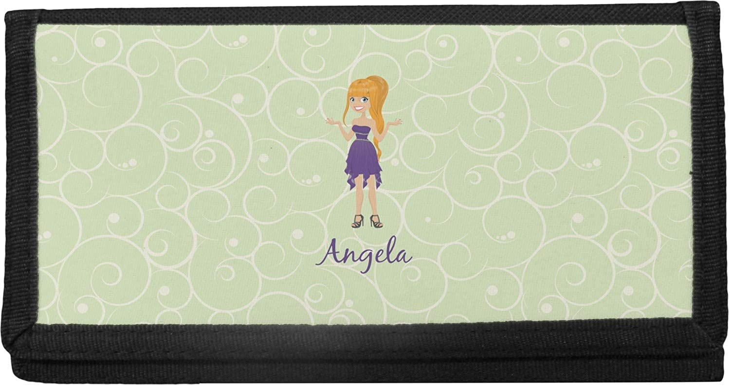Custom Character Milwaukee Bargain sale Mall Woman Canvas Cover Checkbook Personalized