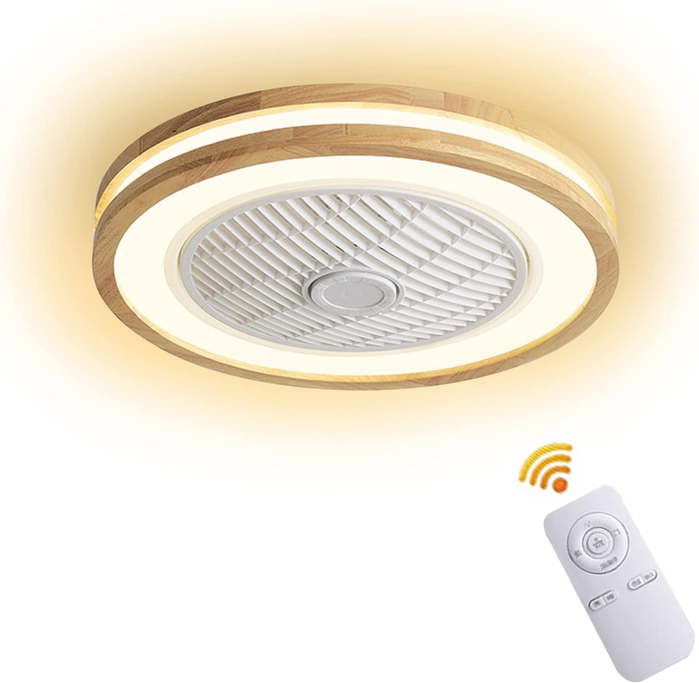 Wood Ceiling Max 75% OFF Fan with Lights Li Remote OFFicial shop Control Dimmable