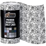 Product Image of the Gorilla Grip Smooth Surfaced Top Slip Resistant Drawer and Shelf Liner, Non Adhesive Waterproof Roll, Durable Plastic Liners for Kitchen Cabinet Shelves Drawers, Desks, 20 Inch x 10 FT, Vintage Rose