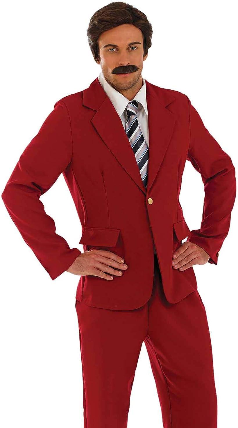 Mens News Reader Newsreader Tv Film Famous Fancy Dress Costume Outfit M L XL