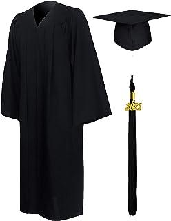 GraduationMall 2021 Toga Laurea Toga e Tocco Cappello Laurea Uomo Donna Nappa Cerimonia Universitaria Unisex Costume Carne...
