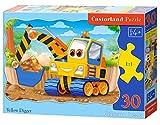 Castorland B-03464 - Escavatore Giallo - Puzzle per Bambini 30 Pezzi