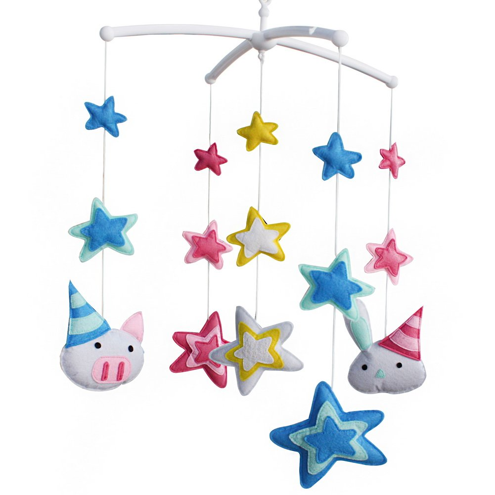 Baby Musical Toy Crib Brand new Mobile Bell Help Fall Asleep Pig Ranking integrated 1st place to