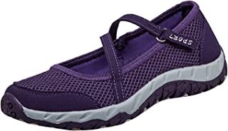 H-Mastery Femme Chaussures de Sport Respirante Léger Mesh Fitness Baskets pour Ballerine Yoga Marche Outdoor Velcro Mary J...