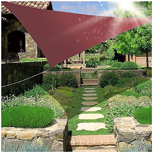 HJXX Toldo triángulo impermeable, protección solar, toldo triangular, vela de 354 g/m², bloque UV para patio al aire libre, jardín, patio trasero, césped y patio