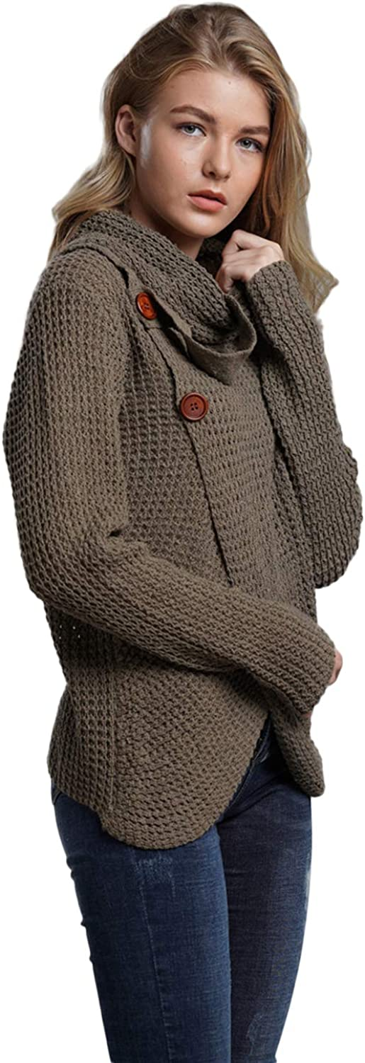 LADY ANGEL Womens Knit Cardigan Sweater Long Sleeve Open Front Chunky Cable Sweaters Coat