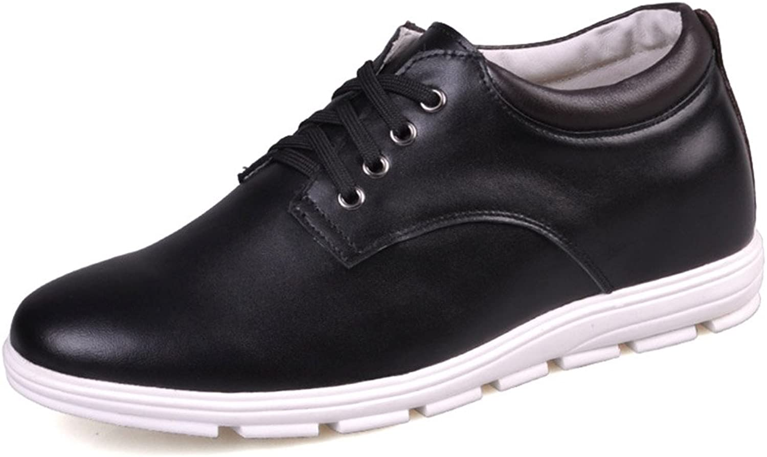 Men's Invisible Elevator shoes Business Casual Leather Oxfords shoes Taller 1.96 inches