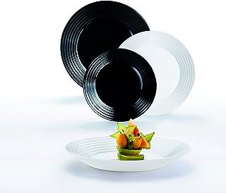 comprar comparacion Luminarc - Vajilla Opal & Vidrio Harena N&B 18 piezas Luminarc 18 piezas