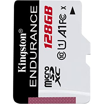 Kingston High Endurance 128GB MicroSD SDXC Flash Memory Card High Performance, 1080P, Full HD, Up to 95MB/S Read, (SDCE/128GB)