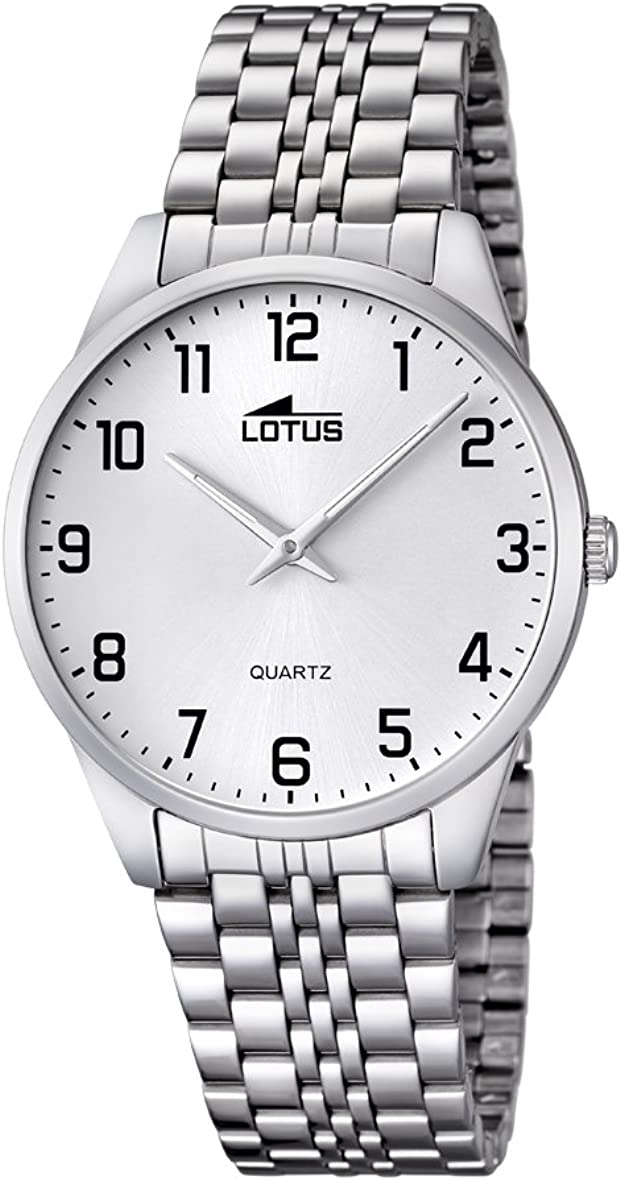 Lotus 15883/1 - Reloj de Cuarzo para Hombre, con Correa de Acero Inoxidable, Color Plateado