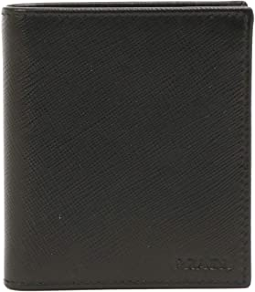 [プラダ] PRADA メンズ 財布 2つ折り 型押しレザー 2MO004 053 SAFFIANO NERO ブラック