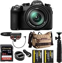 Panasonic LUMIX FZ1000 II 4K 16x Long Zoom Digital Camera Plus Vanguard Havana 21 Bag, 64GB Extreme PRO 170 MB/s, Pro Shotgun Video Mic, 2 Batteries, and Spider Tripod