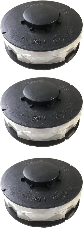 FixedByU 3 bobinas de repuesto para cortabordes eléctricos GC-ET 4530, bobina de repuesto para cortabordes cortacésped, desbrozadora, bordes de césped