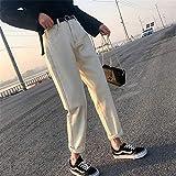 FCWJHNTSL Moda de Verano para Mujer, Pantalones Vaqueros Sueltos de Cintura Alta, Pantalones de Mezclilla para...