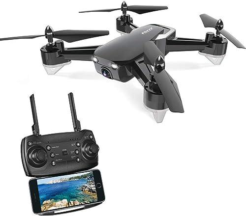 Drone avec caméra HD, RC Drone 720P caméra Un Bouton pour Le décollage et l'atterrissage, Mode sans Tête, Mode de Restez-Altitude, Fantastiqu Super Grand Angle à 120 degrés