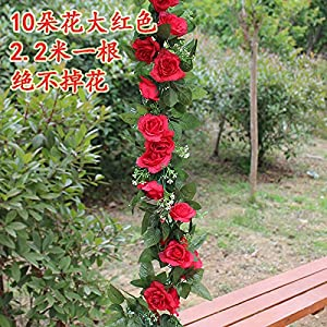 Artificial Flowers Yiting Simulation roses wedding decoration flowers vine