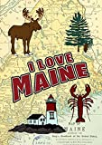 Toland Home Garden I Love Maine Deko-Fahne mit Elch, 31,8 x 45,7 cm