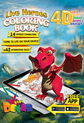Devar Kids Augmented Reality Live Heroes Coloring Book