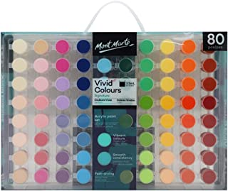 Mont Marte Signature Paint Set - Vivid Colours Acrylic Paint 80pc
