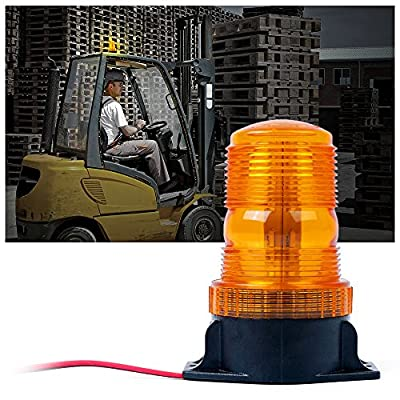 Xprite 30 LED Amber/Yellow 15W Emergency Warning Flashing Safety Strobe Beacon Light for Forklift Mower Truck Tractor Golf Carts UTV Car Bus