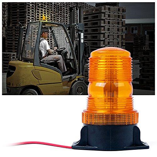 Xprite 30 LED Amber Forklift Beacon Strobe Light Safety Warning Flashing Lights for 10-110V Mower, ATV, Trucks, Tractor, Golf Carts, UTV, Cars, Bus
