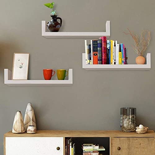 huge discount 655de 23835 White Wall Mounted Shelves: Amazon.com