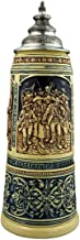 German Beer Stein 2 liter tankard, beer mug Limited Edition 2020 Tyrolean folk heroes, blue, unpainted with pewter lid