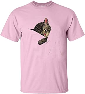 Chessie the Sleeping Kitten Authentic Railroad T-Shirt in Pink