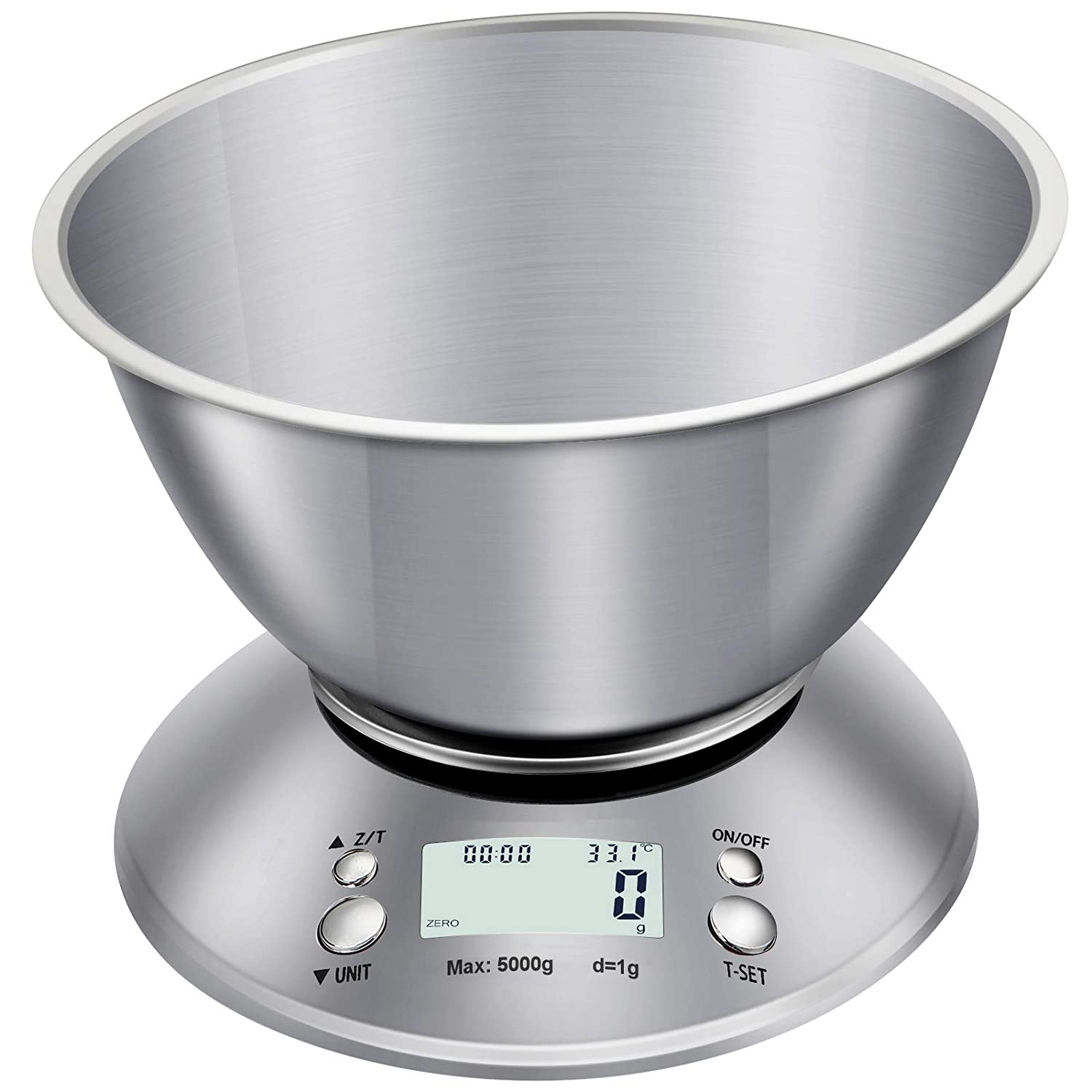 AQwzh Food Scale with Bowl, Digital Kitchen Weight for Cooking,