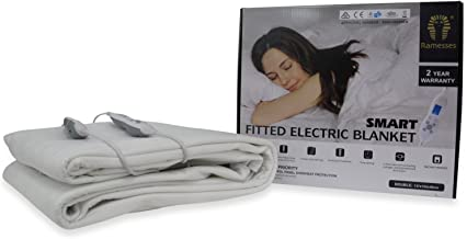 Ramesses Electric Blanket Machine Washable Fully Fitted Heated ALL Sizes [Size: Double]