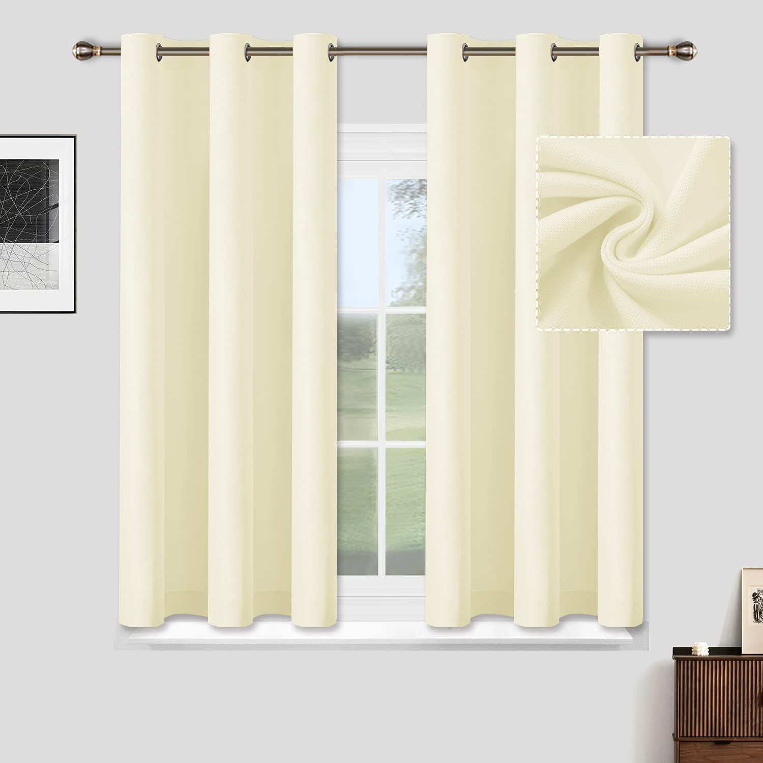 ALLJOY Bedroom Albuquerque Mall Curtains Minneapolis Mall for Short Windows Panels Grommet Ther 2