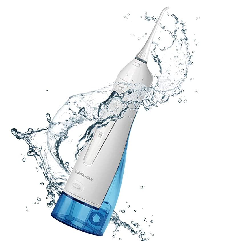 穀物仲間、同僚令状電動歯磨き器3種類のオプションモードIPX7防水?防塵360°回転小型ノズル充電式口腔洗浄器2ノズル