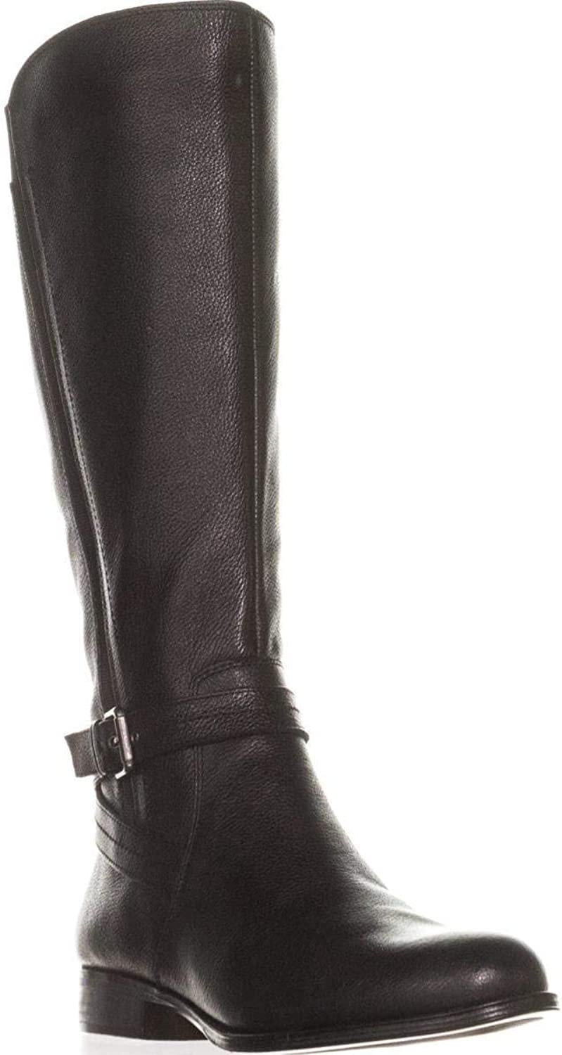 Naturalizer Womens Jelina Wide Calf Black Leather Size 7.5