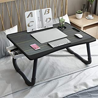 YOSHOOT Laptop Desk for Bed, Multi-Function Laptop Bed Tray Table with Handle, Foldable Legs Notebook Stand Reading Desk w...