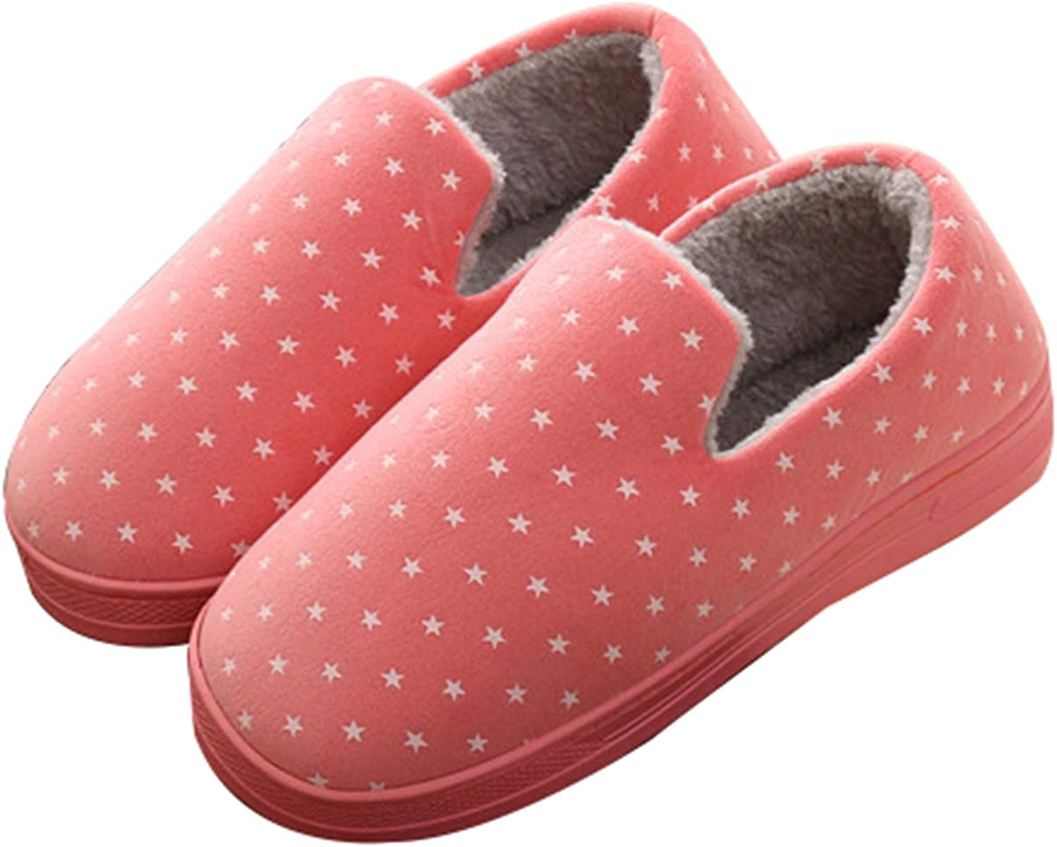 Tuoup Women's Cotton Stars Print Outdoor Indoor House Slippers